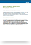 Magic Quadrant for Mobile Device Management Software